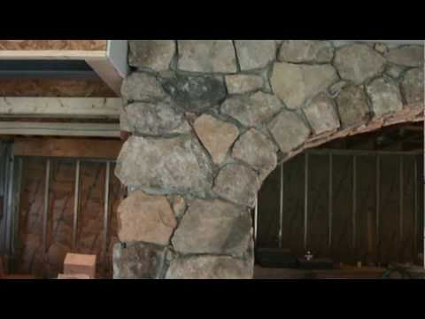 Finished Basement Stone Veneer Arch By Tatcor Com Building