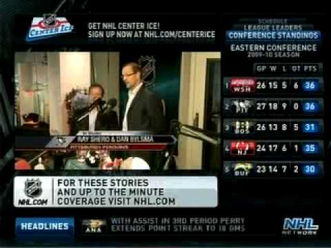 Ray Shero and Dan Bylsma on NHL Live 11-30-09 (Part 2)