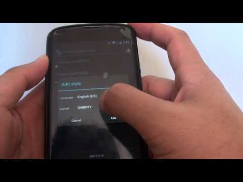 Google Nexus 4: How to Switch to a PC Keyboard Layout