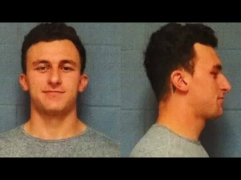 Johnny Manziel Turns Himself In, Subtly Flips Off Media