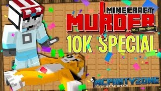 Minecraft Murder - SuperSips39 on the loose! (with AshDubh, Squid & Stampy) 10K SUBS SPECIAL #1