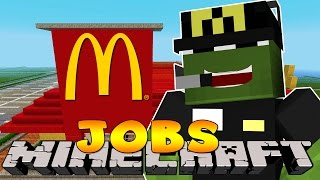 Minecraft Jobs - FIRST DAY IN MCDONALDS! (Custom Roleplay)