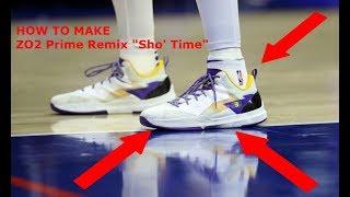 "NBA 2K18 - How To Make ZO2 Prime Remix Lakers Colourway / ""Sho' Time"""
