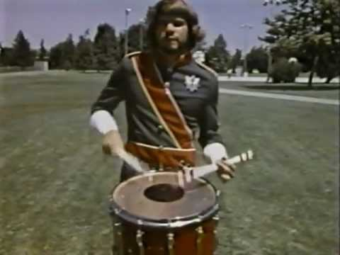 Rob Carson SCV snare drum: rare footage from the 1970s!