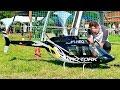 HUGE RC SCALE MODEL ELECTRIC HELICOPTER BELL-206 JETRANGER FLIGHT DEMONSTRATION
