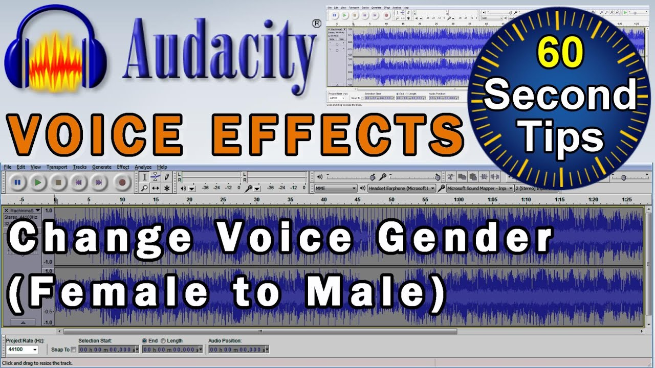 how to change your voice in audacity