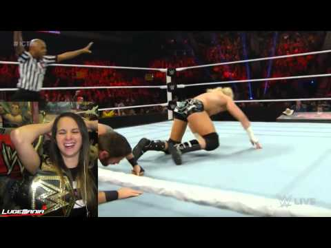WWE Raw 1/5/15 Dolph Ziggler vs Wade Barret Live Commentary