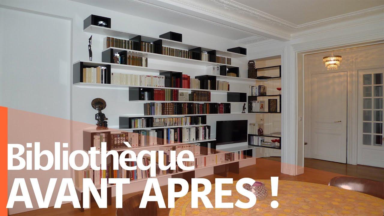 Une Bibliotheque Dans Un Appartement Haussmannien Youtube