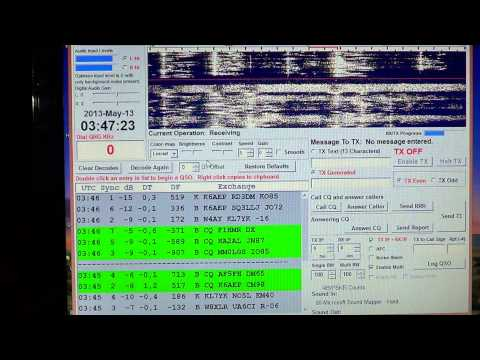 JT65 digital mode on amateur radio 20 meters may 13th 2013