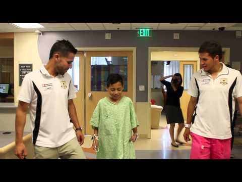 UC Davis Children's Hospital patient gets visit from Sacramento Republic FC