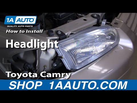 How To Install Replace Headlight Toyota Camry 97-01 1AAuto.com