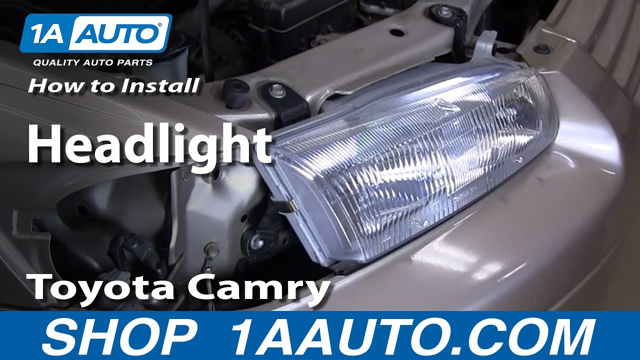 How To Install Replace Headlight Toyota Camry 97 01 1aauto