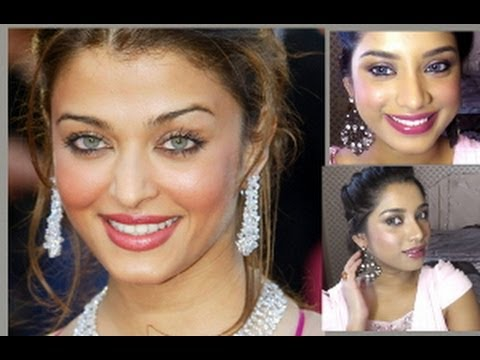 Aishwarya Rai Inspired Dewy Make-up And Hair Tutorial + Winner Announcement Of Cichic Giveaway. video