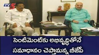 అమిత్షా కీలక భేటీ..! | AP BJP Leaders Meets Amit Shah Over TDP No Confidence Motion