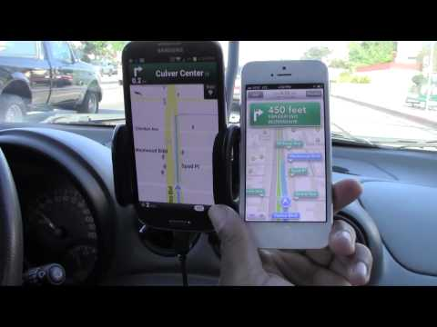 LIVE Navigation Comparison - iPhone 5 vs. Gal
