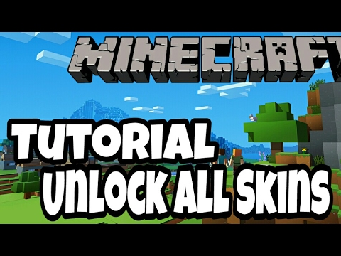 Tutorial Minecraft Cara MemBuka / MengUnlock Semua Skin Berbayar Di Minecraft
