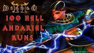 Diablo 2: 100 Hell Andariel Runs - Magic Find Results