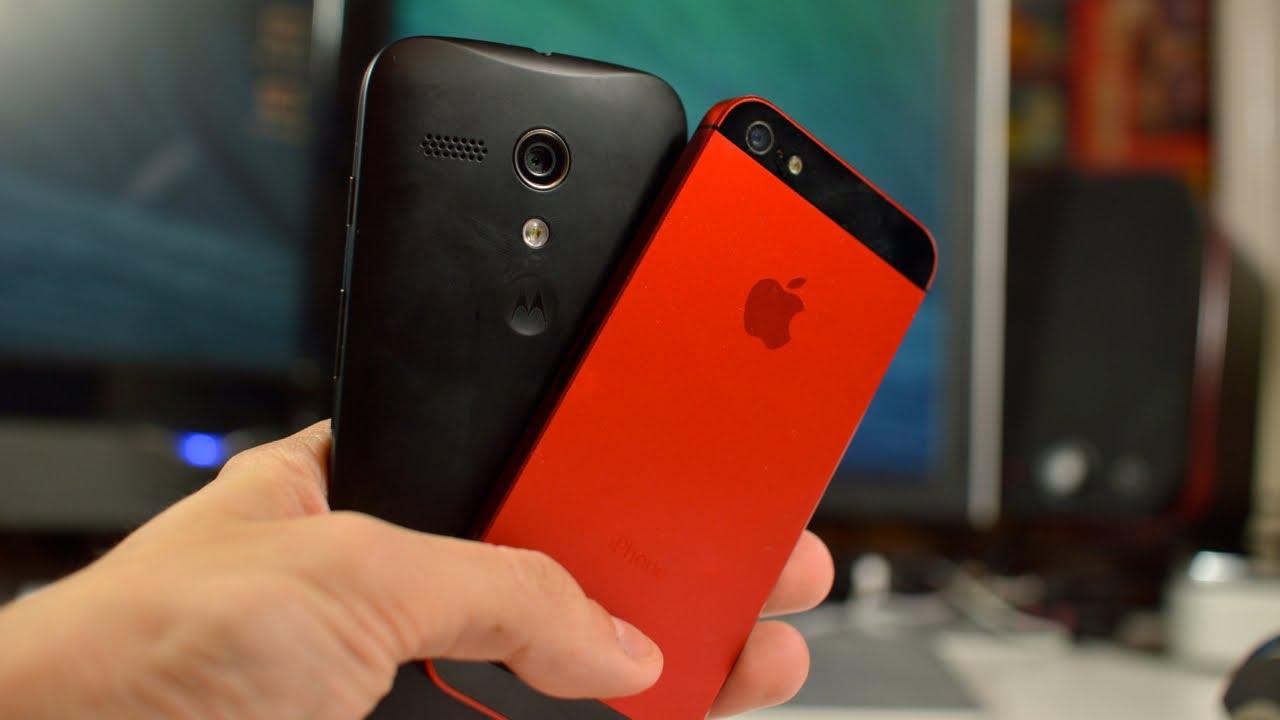 moto g vs iphone 5s