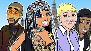 Nicki Minaj No Frauds ft Drake Lil Wayne CARTOON PARODY