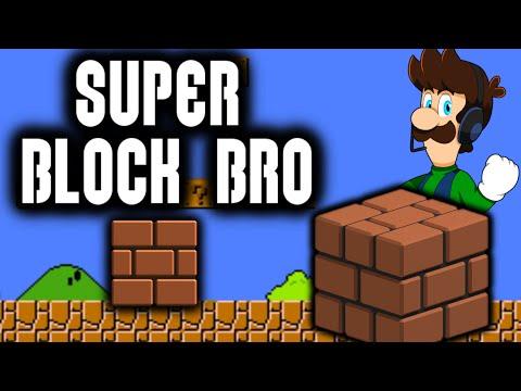 PLAYING AS A BLOCK?!! SUPER BLOCK BRO [Super Mario Bros. Parody Game]