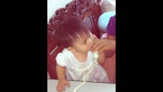 baby with telephone :D