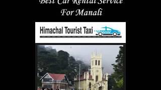 Best Car Rental Service For Manali