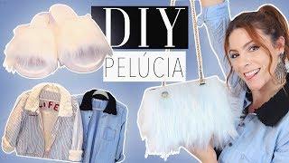 DIY :: Customize tudo com Pelúcia!! Jaquetas, Bolsa, Chinelo Slipper! - Tutorial de Inverno