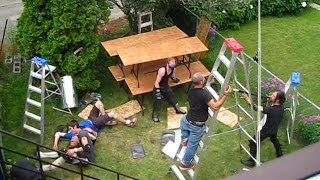 10 man genie in the lamp ladder match chw backyard