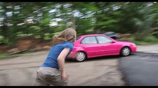Psycho Dad steals Pink Car!