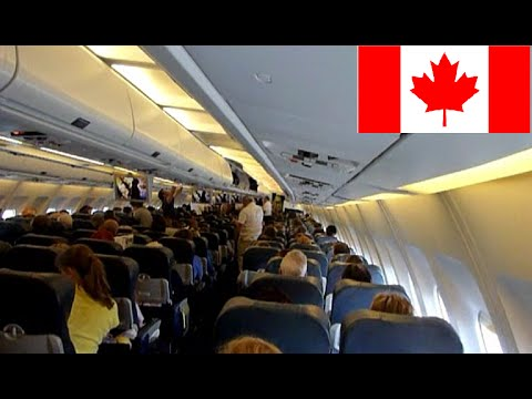 Flight to montreal take plane landing decollage for Interieur avion air canada