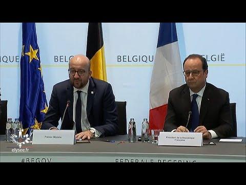 Réactions de François Hollande et Charles Michel après l'arrestation de Salah Abdeslam