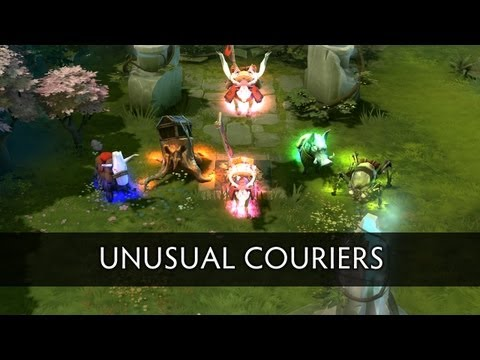 All the DOTA 2 Unusual Couriers Effects