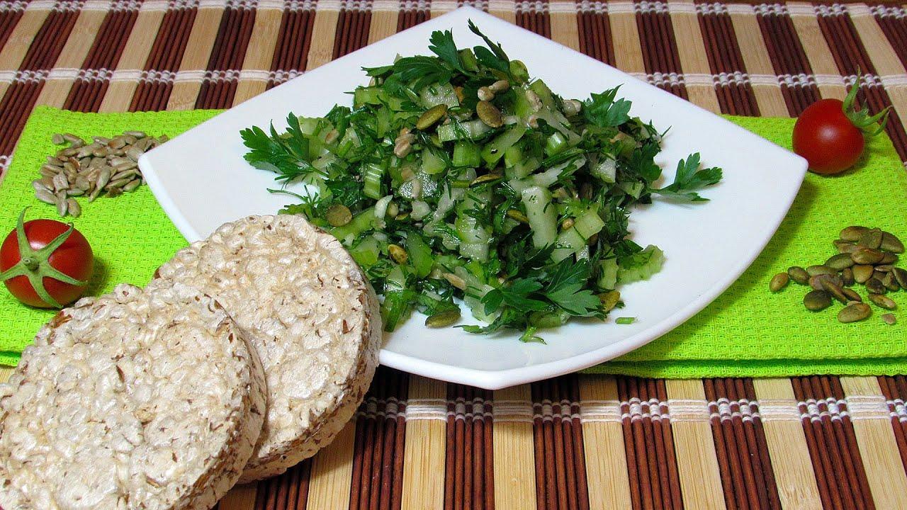 Салат с зеленым салатом рецепты
