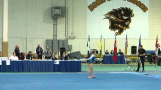 Lauren's Gold medal Floor routine at Western Canadian Championships 2013