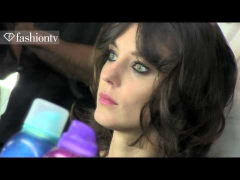Models & Makeup at BCBG Max Azria Spring/Summer 2013 | New York Fashion Week NYFW | FashionTV