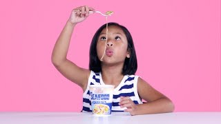 Kids Try Instant Noodles from Around the World | Kids Try | HiHo Kids