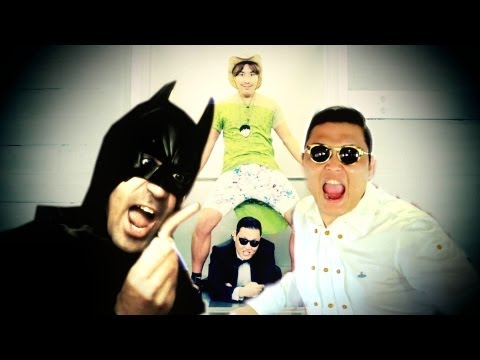 PSY BATMAN GANGNAM STYLE - davidekyo -