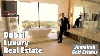 Luxury Dubai Real Estate . 6 Bedroom Golf Course Villa . HILLSIDE