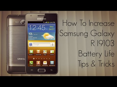 How to Increase Samsung Galaxy R I9103 Battery Life Tips Tricks Music Videos