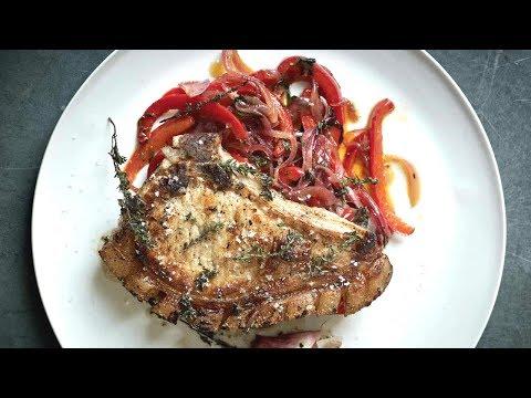 Рецепт от Гордона Рамзи - Жареные свиные отбивные с перцем
