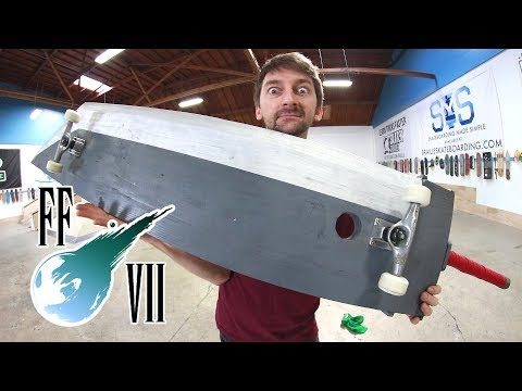 SKATING THE FINAL FANTASY VII GIANT BUSTER SWORD!