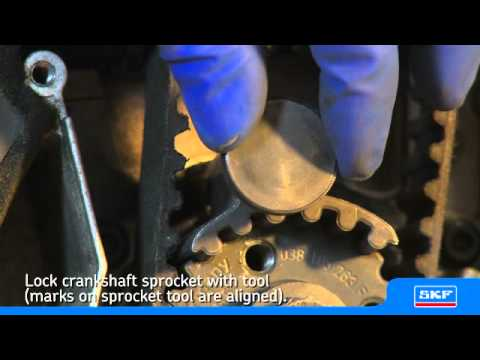 SKF Installing an SKF Timing belt kit w/ water pump on a VW Passat 1.9 TDI - uk playlist