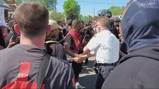 Peaceful police protests and a gesture of unity in Cleveland Tuesday