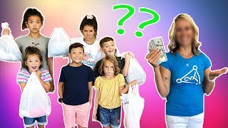 MOM SWAP! Back To School SHOPPING with MYSTERY MOM!!
