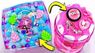 EXTREME BARBIE SLIME! Satisfying Pink Flamingo Slime! Amazing Over The TOP Slimes!