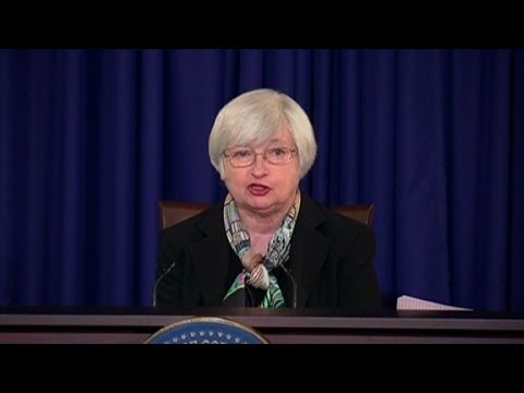 Yellen's first Fed presser in 90 seconds
