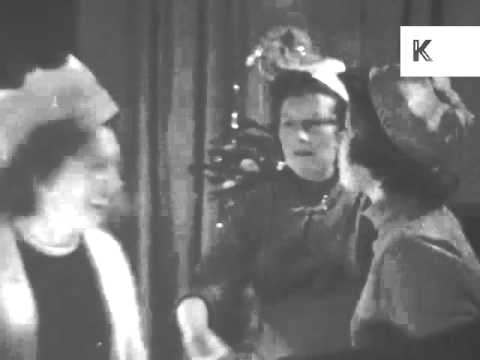 1950s Family Christmas Dinner, Turkey, UK Home Movies, Archive Footage