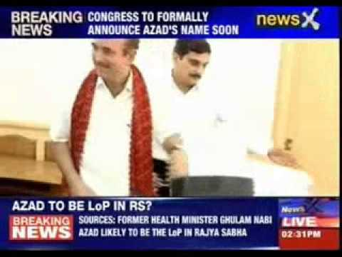 Ghulam Nabi Azad likely to be the LoP in Rajya Sabha