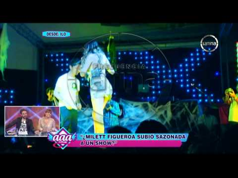 Milett Figueroa: El Alcohol Le Jugó Una Mala Pasada En Pleno Show