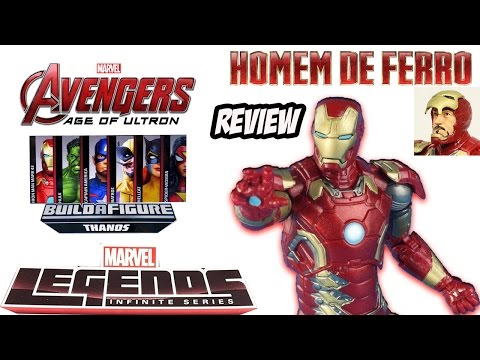 Review Homem de Ferro Mark 43 Marvel Legends - filme Avengers Age of Ultron